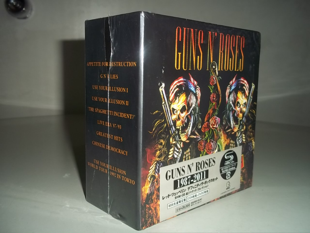 1987-2011 Guns and roses Complete Collection Janpn edition guns n 'roses album 9 CD+2 DVD футболка стрэйч printio guns n roses