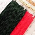Ventas calientes! (longitud 50 cm-96 cm) 2015 de verano de gran tamaño de las mujeres faldas de la gasa de la señora Bohemia de la falda plisada 21 colores disponible