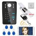 Беспроводной WIFI RFID пароль видеодомофон дверной звонок + система контроля доступа + без электрического замка