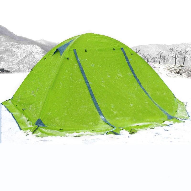 Flytop Кемпинг походная палатка Водонепроницаемый 2 4 человек двойной слой 4 сезон палатка зима сверхлегкий открытый семья палатки с юбкой - 4