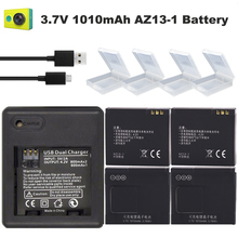 цена на 4x batteries xiao mi Yi accessories 1010mAh bateria original Xiaoyi Yi Battery + Double Dual Charger for xiaomi yi action camera