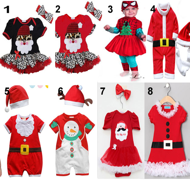 retail children christmas clothing baby boys and girls christmas dress xmas dress santa claus costumes baby girls dress in clothing sets from mother kids