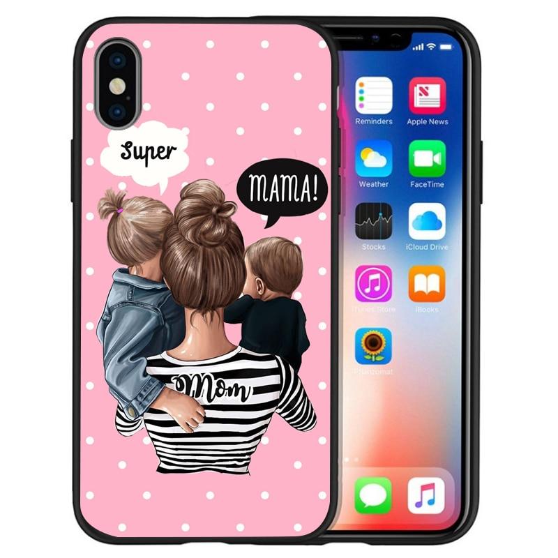 Супер I Love Mama мышь папа мама мальчик детский чехол для чехла iphone 8 7 X XS Max XR 6 7 8 плюс 5S SE мягкий чехол Etui - Цвет: 10