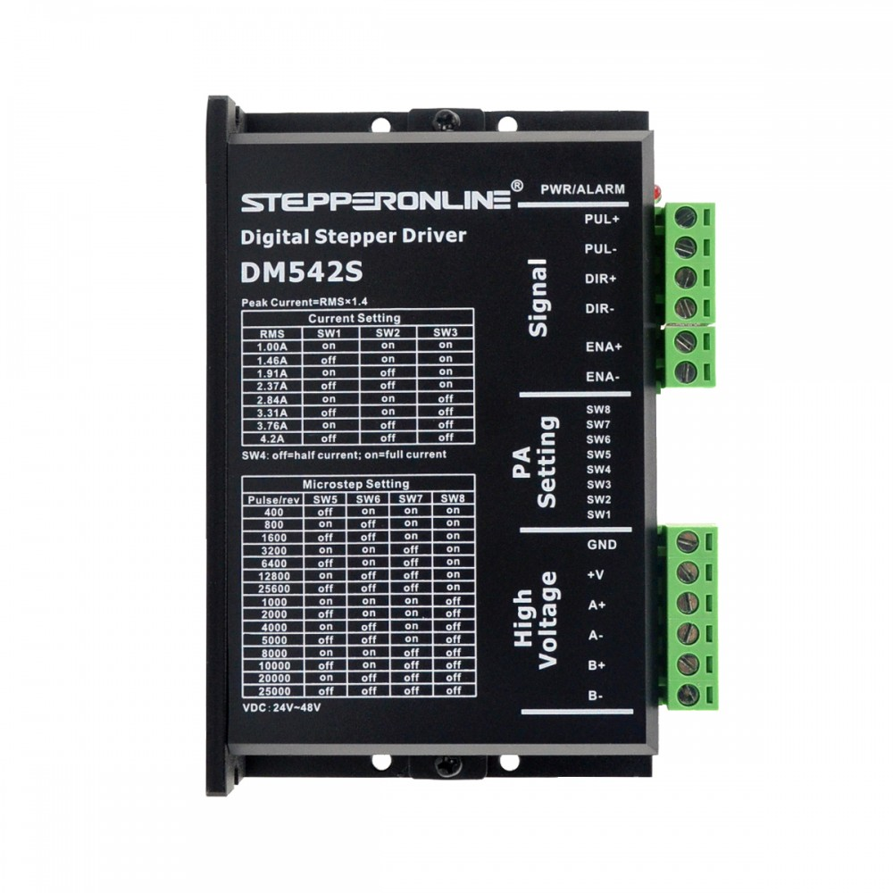 Digital Stepper Motor Driver Stepper Motor Controller RMS Current Max 3A 24-48VDC for Nema 17, 23, 24 Stepper Motor <font><b>DM542S</b></font> image