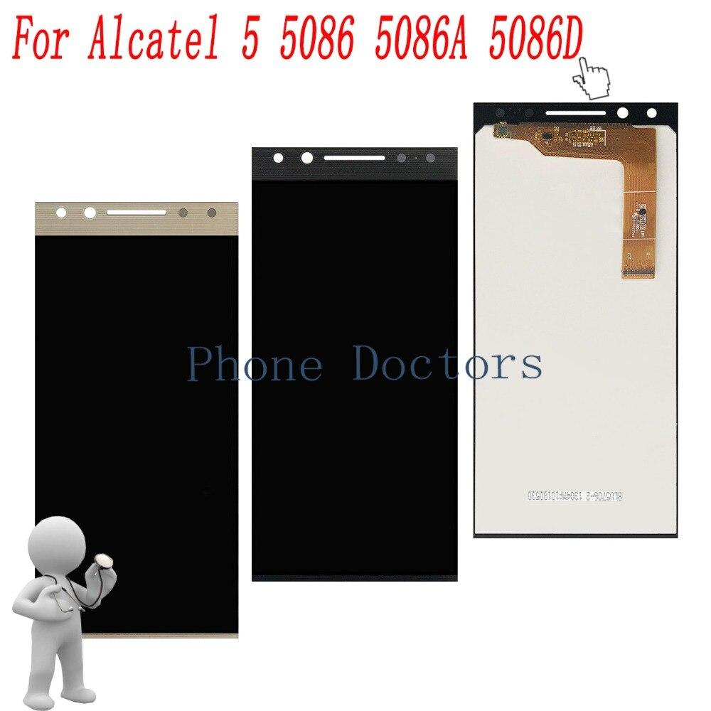 5,7 ЖК дисплей + стекло для графического планшета линзы сборки для Alcatel 5 5086 5086A 5086D