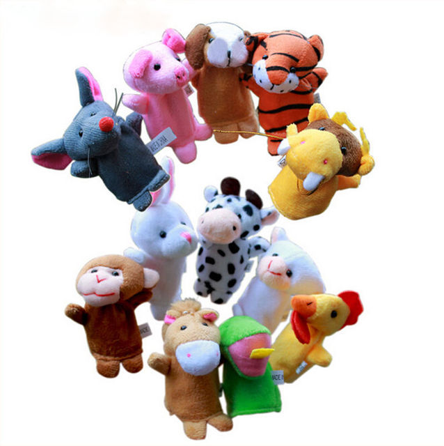 2016 New Chinese Zodiac Finger Puppets For Talking Props Doll