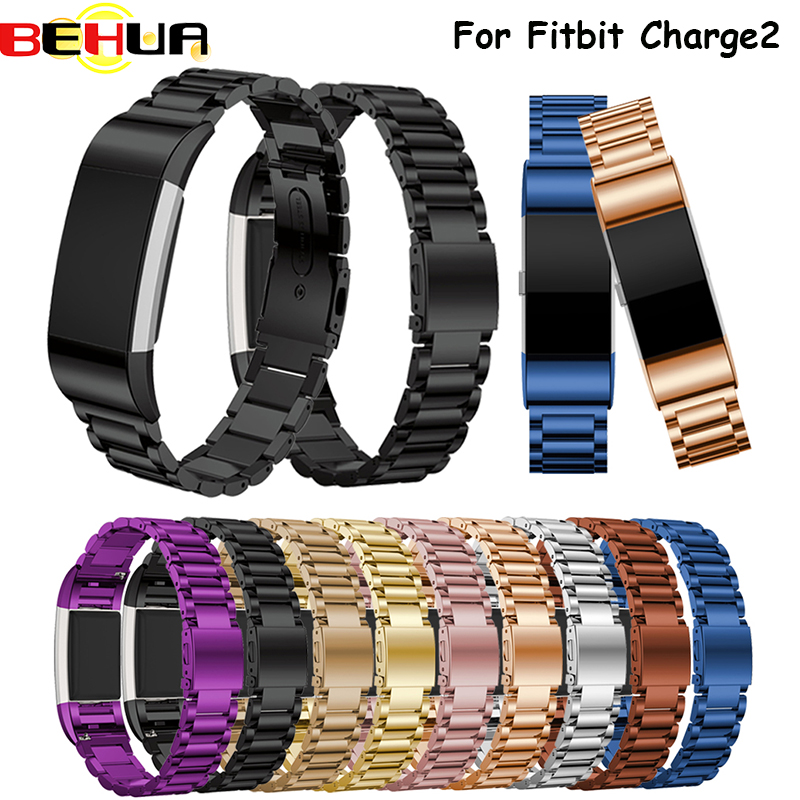 For Fitbit Charge 2 Strap Stainless Steel Bracelet Watch Band for Fitbit Charge2 Band Smart Watch