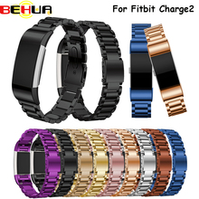 Hot Fitbit Charge 2 Strap Stainless Steel Bracelet Fitbit Charge 2 Band Fitbit Charge2 Band Smart Watch Wristband Replacement