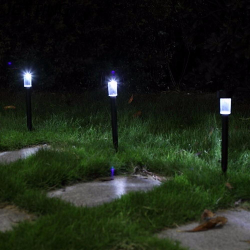 Outdoor Led Antique Solar Landscape Garden Path Light Lamp: 5PCS/Lot Solar Panel LED Spike Spot Light Spotlight