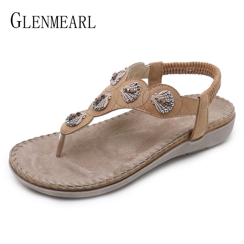 Women Flip Flops Summer Shoes Sandals Woman Beach Shell Shoes Woman Flat Sandals Fashion New Female Sandals Ladies Shoes DE