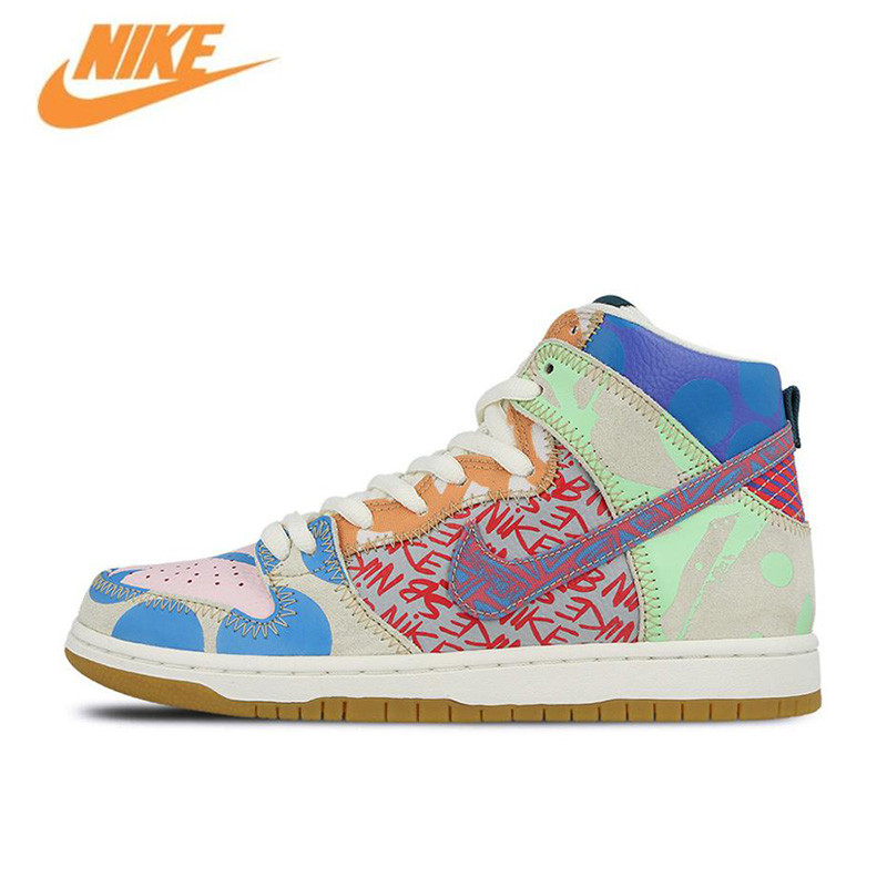 Nike New Arrival Official SB What The Dunk High Anti-Slippery Men's Skateboarding Shoes Sports Sneakers 918321-381 nike sb рюкзак nike sb courthouse черный черный белый