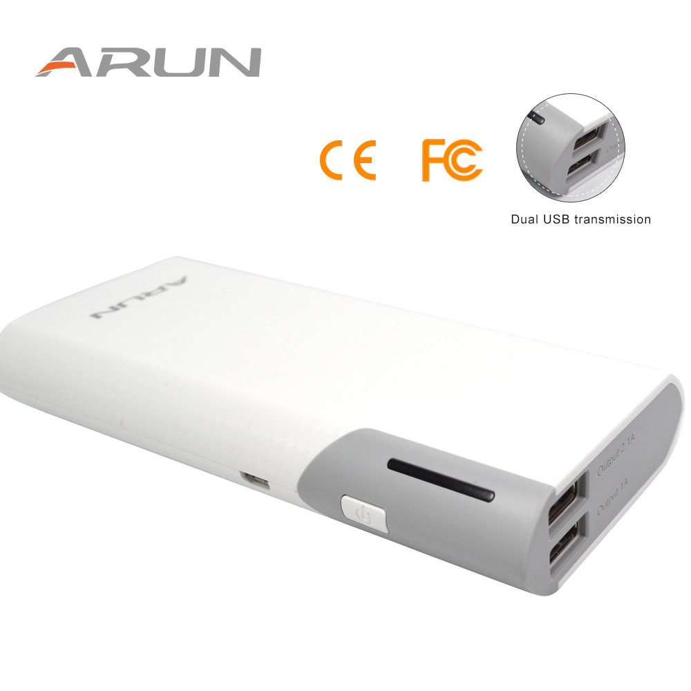 ARUN 10000mah Power Bank Dual USB High speed Charging Technology Emergency Power Supply Y59 External Battery Charger Poverbank