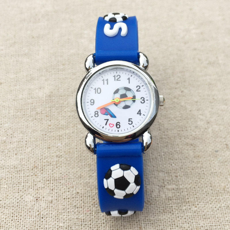 Cartoon Football Style Childrens Watches Kids Students Girls Quartz 3d Silicone Strap Wrist Watch Clcok E06 Complete Range Of Articles Watches