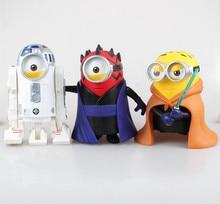 Cute 8″ Minions Minion Cosplay cos Star Wars Luke Skywalker R2-D2 Darth Maul Boxed 20cm Action Figure Model Toy