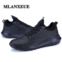 Mlanxeue 남성 패션 직조 빛 통기성 편안한 캐주얼 신발 봄