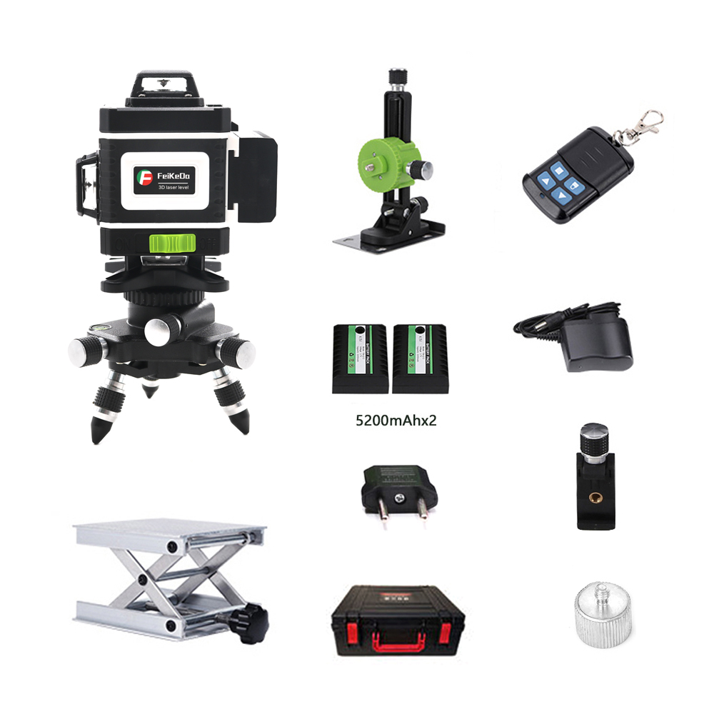 Laser Level 16 lines green line 3D Self Leveling 360 Horizontal And Vertical Super Powerful Laser
