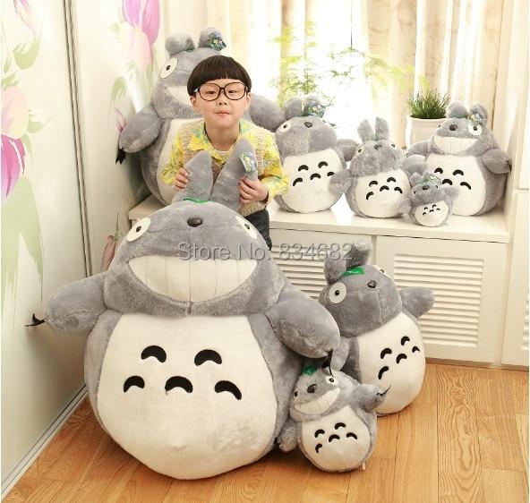JG Chen 20 CM-1.4 M Nouvelle Arrivée Totoro de Bande Dessinée Films Kawaii Jouets En Peluche Sourire Poupées de Haute Qualité Moins Cher géant Totoro En Peluche