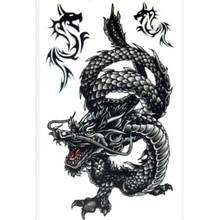 Cool Men Dragon Tattoo Waterproof Temporary Stickers Tattoos For Men