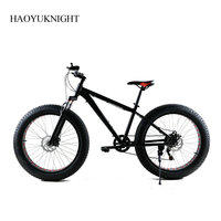 Aluminum Alloy 26 Inch Bike Speed 7 Unisex Bicicleta Mountain Bike Fatbike Black Bicicleta Carretera Road