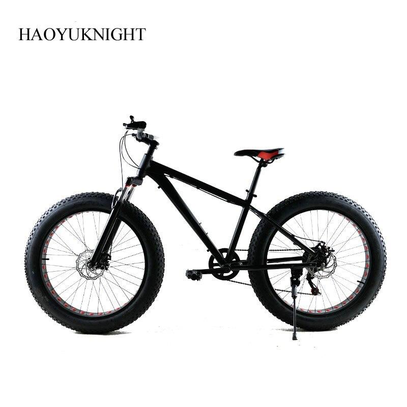 Aluminum Alloy Inch Bike Speed Unisex Bicicleta Mountain Bike Fatbike Black Bicicleta