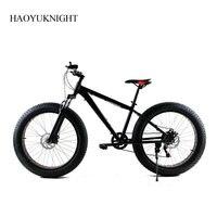 Aluminum Alloy 26 Inch Bike Speed 7 Unisex Bicicleta Mountain Bike Fatbike Black Bicicleta Carretera Road