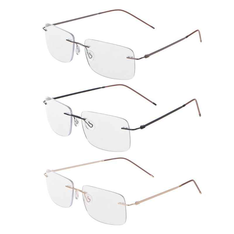 Ultra-light Progressive Multifocal Presbyopia Intelligent Reading Glasses Unisex Rimless