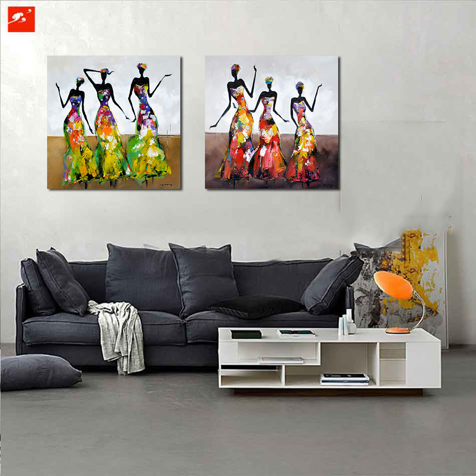 Online buy wholesale african woman painting from china - Oil painting ideas for living room ...