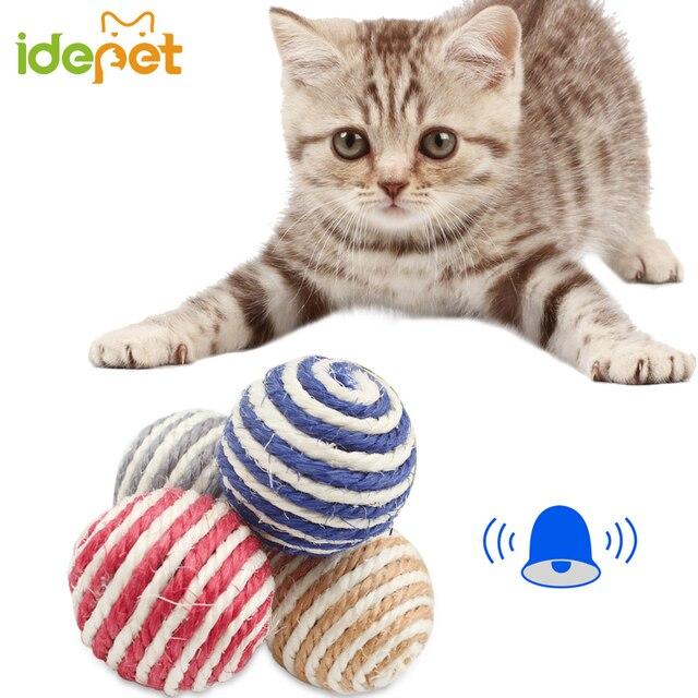 1 pz Pet Mastica Giocattoli Del Gatto Corda Gatto Giochi Knot Sfera di Giocattol