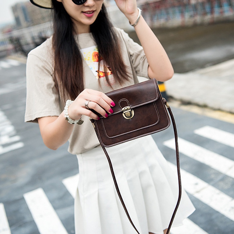 AEQUEEN 2018 New Small Side Of Mini Mobile Phone Messenger Bag Nice Women Hanbags Vintage PU Leather Single Strap Shoulder Bags 6