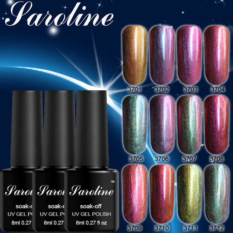 Saroline Chameleon Colors UV Gel Polish Shining Surface Semi-permanently Soak-Off UV LED Gel Varnish Nail Art Manicure