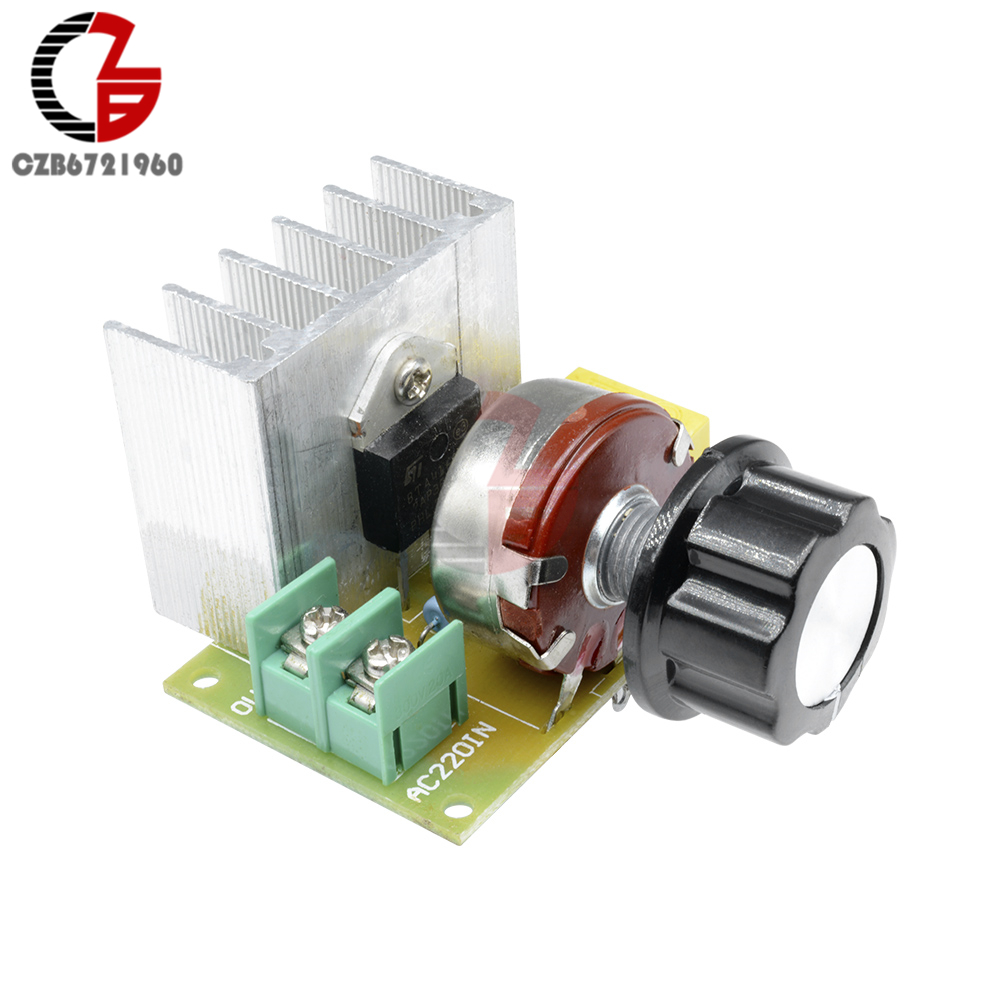 AC 110V 220V Speed Controller 3800W SCR Voltage Regulator Dimming Switch Temperature Control Motor Speed Control for Smart Home(China)