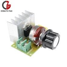 AC 110V 220V hız kontrol 3800W SCR voltaj regülatörü karartma anahtarı sıcaklık kontrol Motor hız kontrolü akıllı ev