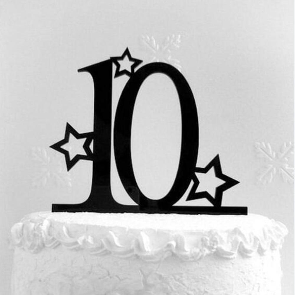 Anniversary Birthday Decoration Cake Topper Number 10 Cake Accessory Happy Birthday Cake DecorationsAnniversary Birthday Decoration Cake Topper Number 10 Cake Accessory Happy Birthday Cake Decorations