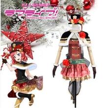 Anime Clothes 2019 Love Live Nishikino Maki Christmas Awaking Dress Cosplay Costume Cape Socks halloween costumes for women A