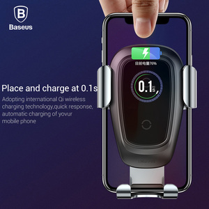 Image 2 - Baseus Qi Wireless Car Charger For iPhone 11 Pro Xs Max X 10w Fast Car Wireless Charging Holder For Xiaomi Mi 9 Samsung S10 S9