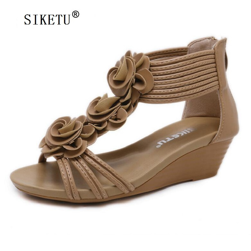 SIKETU High Heel Sandals Women 2018 Summer Shoes BLACK BROWN Comfortable  Wedges Women Sandals C2020-in Middle Heels from Shoes on Aliexpress.com  9e1bdc7052db