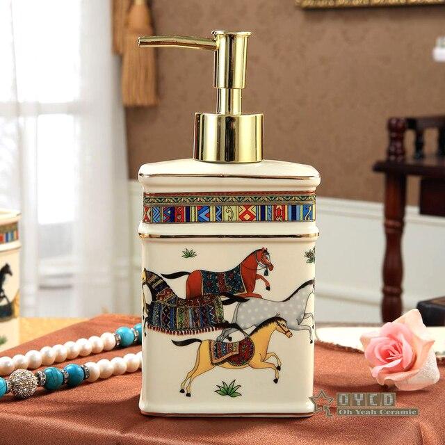Ceramic Soap Dispenser Ivory Porcelain God Horse Design Hand Liquid Soap  Dispensers Liquid Soap Dispenser Bathroom