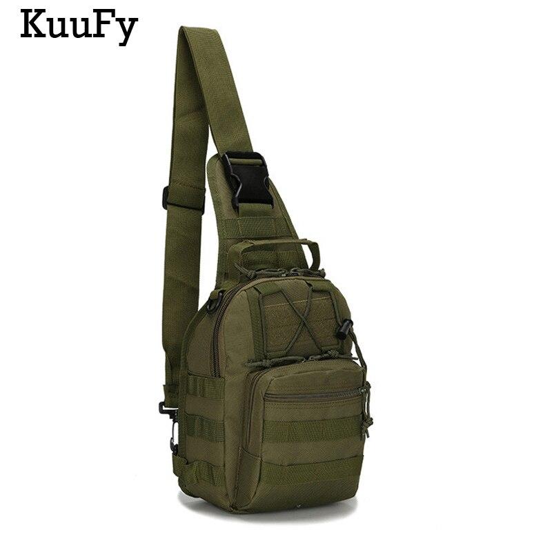 Prix pour KuuFy En Plein Air équitation sac de sport petite poitrine sac D'épaule croix Militaire tactiques poches poitrine Paquete Bolso Alpinismo