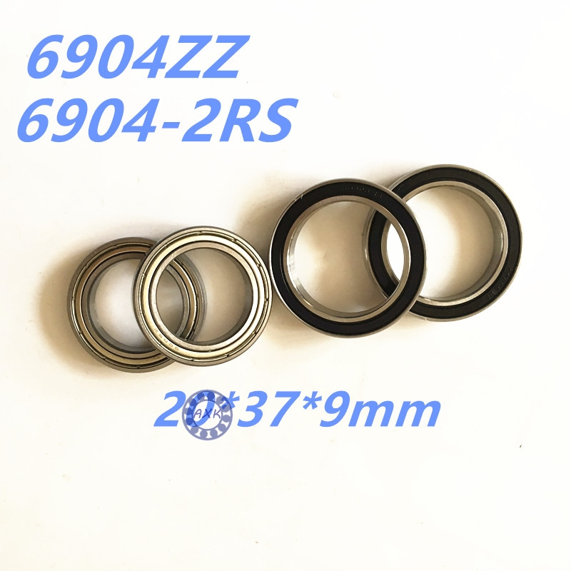 Free Shipping GCR15 61904 6904 2z 6904ZZ  20*37*9mm Deep groove ball thin section bearings 6904ZZ 6904-2RS 61904 20*37*9 mm rosenberg 6904