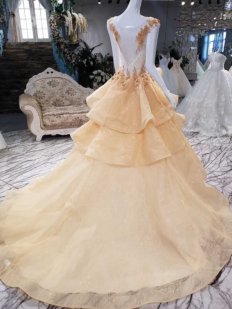 watch dd80c 97388 LSGT6595 lace flowers beading Illusion champagne formal dress shopping  online China 2018 abiti da cerimonia da sera abiye