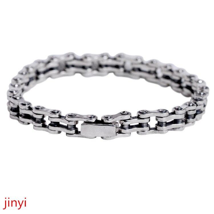 f289d1df302d75 Fine jewelry S925 pure silver locomotives men's boutique Bracelet single  male domineering Silver Bracelet