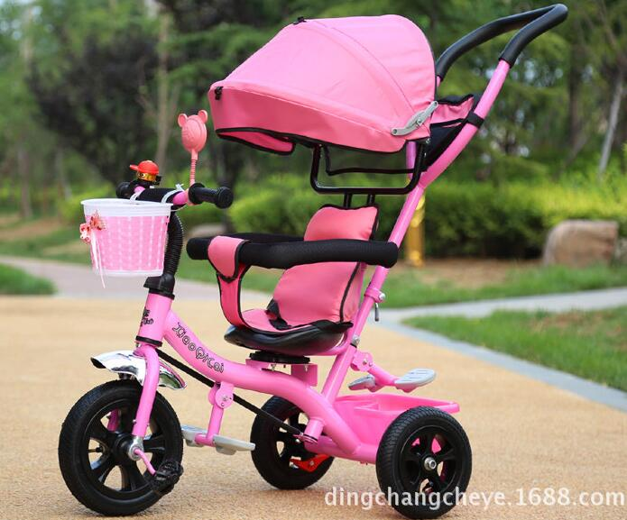 NEW 2017 With umbrella New shade children pedal tricycle