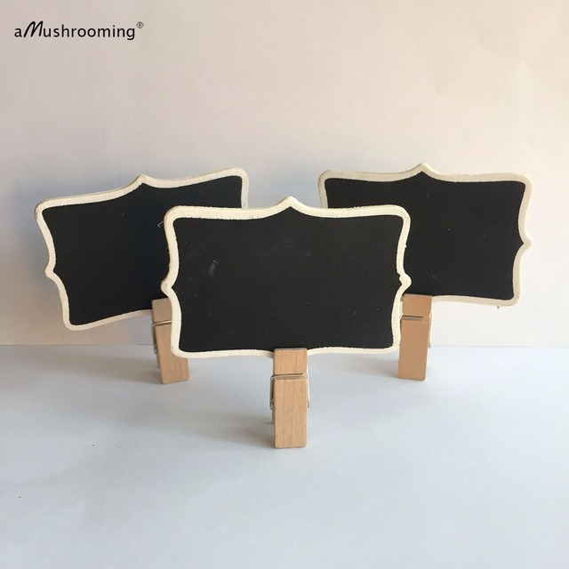 Us 300 50 Chalkboard Blackboard On Wooden Clip Stand Vintage Shabby Wedding Sweets Candy Cart Buffet Bar Table Sign Chic Plaque Gift In Party Diy