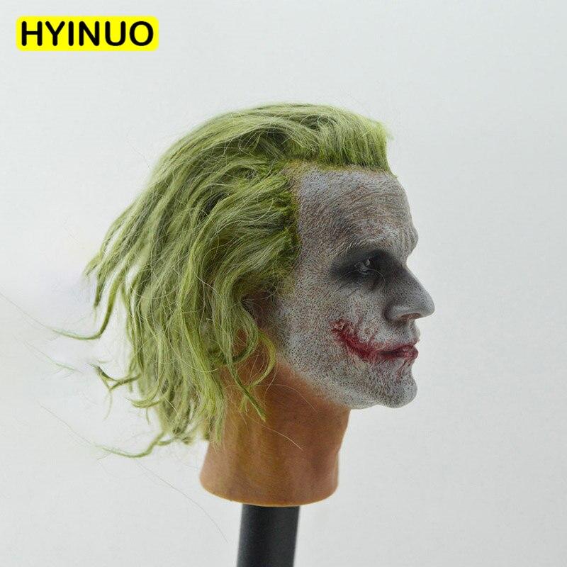 New 1//6 Scale Joker Headplay Heath Ledger Head Sculpt For 12/'/' Male Figure Body