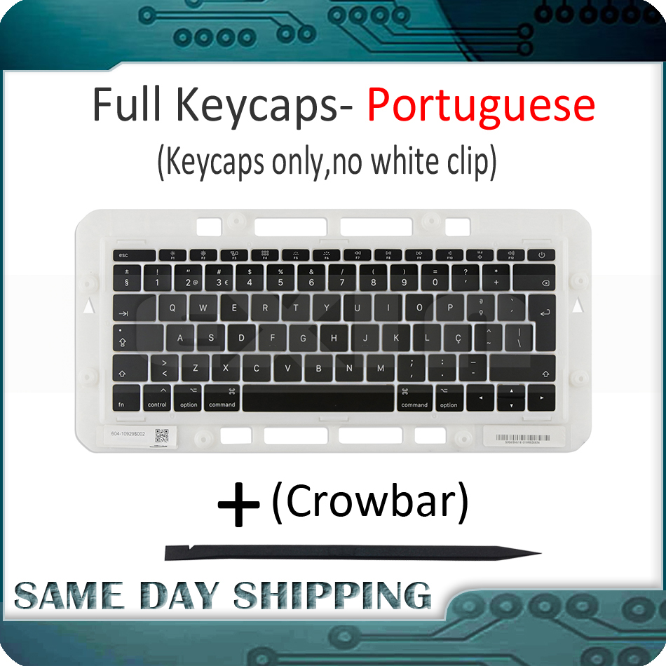 Genuine for Macbook Pro Retina 13 15 A1706 A1707 A1708 Portuguese Portugal Keyboard Keys Key Cap Keycaps Late 2016 Mid 2017 image