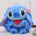 Candice guo plush toy stuffed doll cartoon funny movie Lilo Stitch Satchel backpack bag shoulder schoolbag package