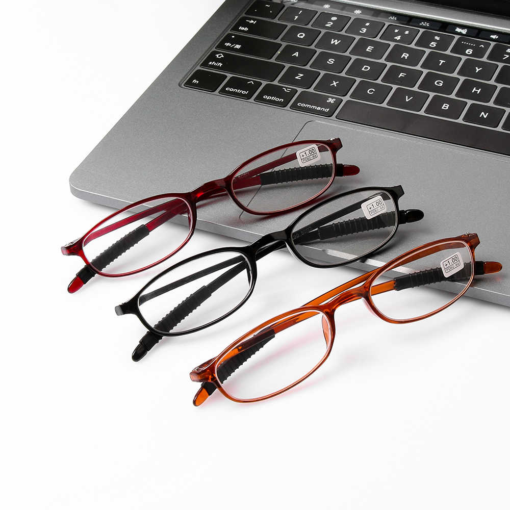 585f1f2c889 Men Women Ultra-light Fashion Reading Glasses Resin Anti-skidding Eyeglasses  Eyewear +1.0