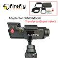 Acessórios gopro hero 5 adaptador interruptor placa de montagem para osmo cardan câmera móvel