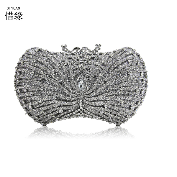 New Arrival Crystal Evening Bag Fashion Dinner Bag Party Purses Women Nightclub Cocktail Clutch Bag with Colored Crystal Clutch