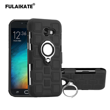 FULAIKATE Ice Cubes Cover for Samsung Galaxy A5 2017 Back Case Ring Stand Soft Portable Phone Protective Funda
